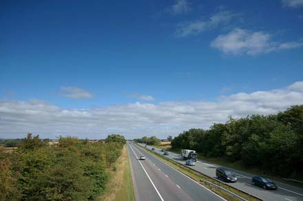 A1 motorway view